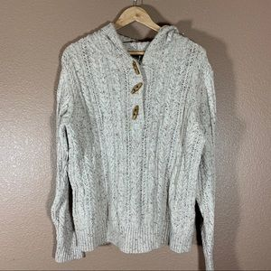 Eddie Bauer Knit Sweater With Toggle Buttons